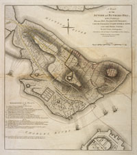 Plan of the Action at Bunker Hill
