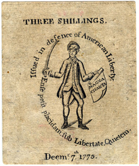 Massachusetts, Three Shillings