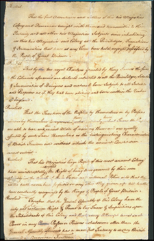 Patrick Henry's Stamp Act Resolves