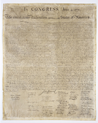 Engraved Copy of the Declaration of Independence